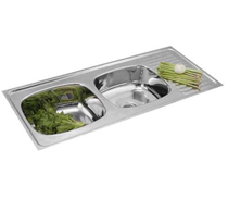 Double Bowl Single Drain Sinks - 4004