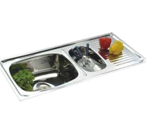 Double Bowl Single Drain Sinks - 4001