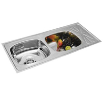 Double Bowl Single Drain Sinks - 4003