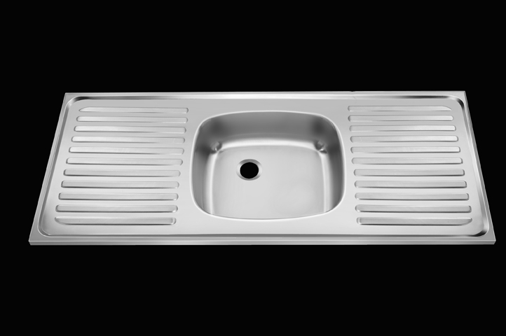 Single Bowl Double Drain-150X50